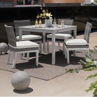 Brayden Studio Saleh 5 Piece Dining Set with Cushion