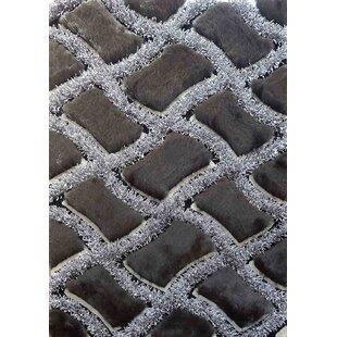 Shop For Yarbrough Hand-Tufted Gray/Black Area Rug ByLatitude Run