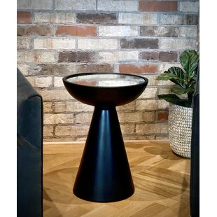 Paladora Mirrored Top Block End Table by Orren Ellis