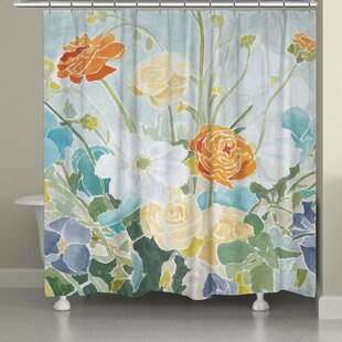 Lavon Spring Floral Single Shower Curtain