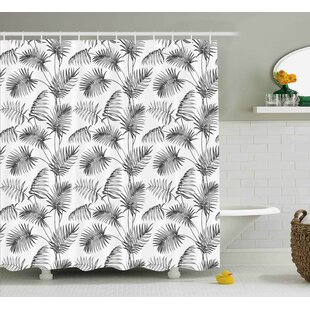 Applecroft Palm Leaf Botanic Island Single Shower Curtain