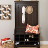 Flatiron Hall Tree with Bench and Shoe Storage by Charlton Home