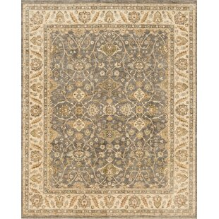 Mina H Woven Wool Gray Area Rug byDarby Home Co