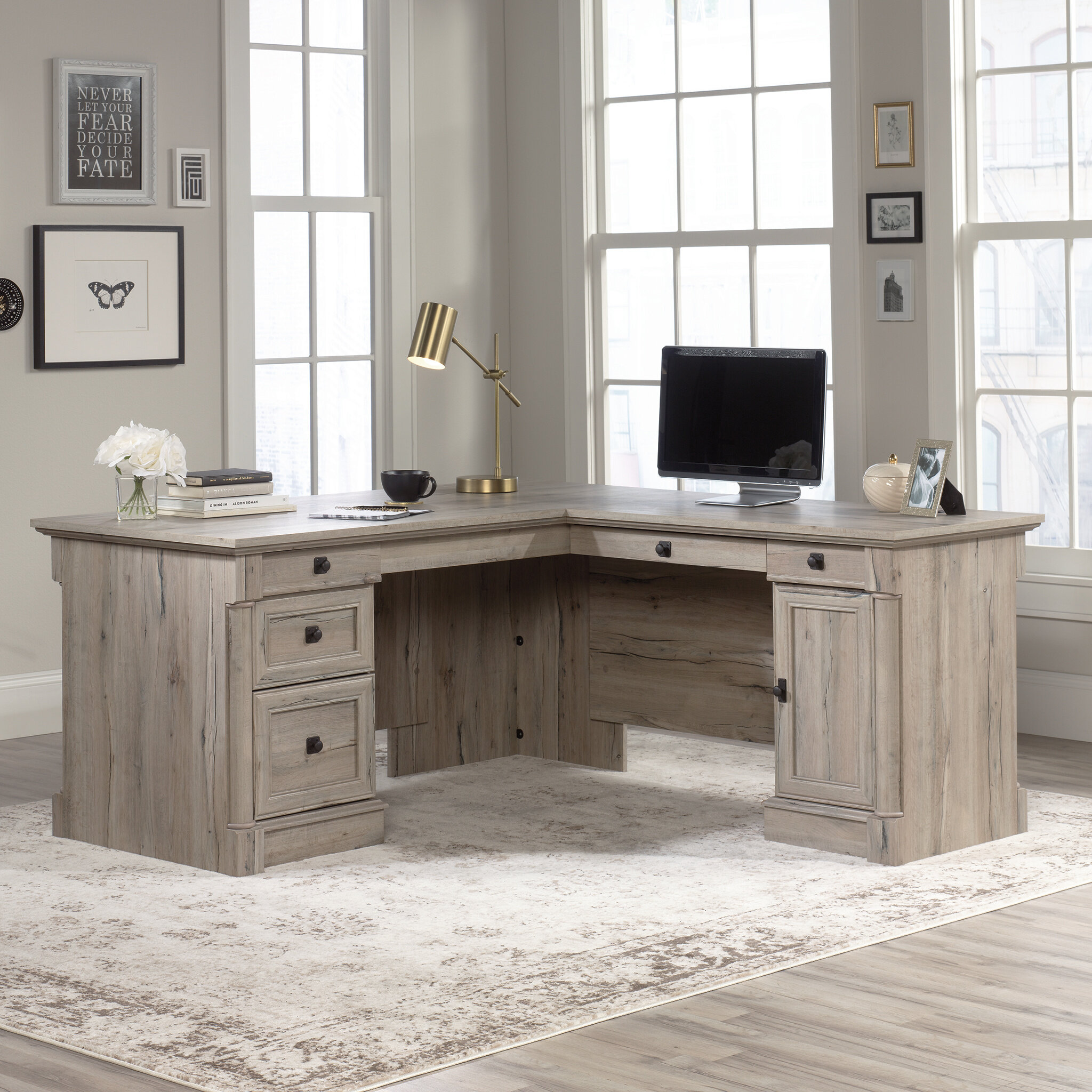 Three Posts Orviston L Shape Desk Reviews Wayfair