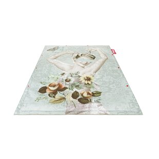 Vase Non-Flying Blue Indoor/Outdoor Novelty Rug