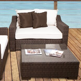 Bayou Breeze Jermal Wicker Loveseat with ..
