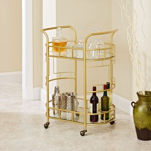 Gold Bar Cart Wine Rack Wayfair