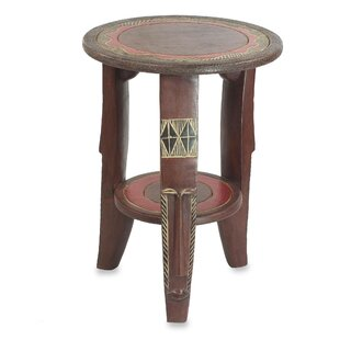 Caistor Friendly Circle Wood End Table with Storage