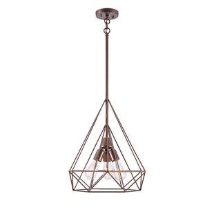 Wrought Studio Barajas Diamond 3-Light Geometric Chandelier