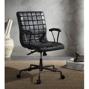 Hirsch Genuine Leather Executive Chair by 17 Stories No Copoun