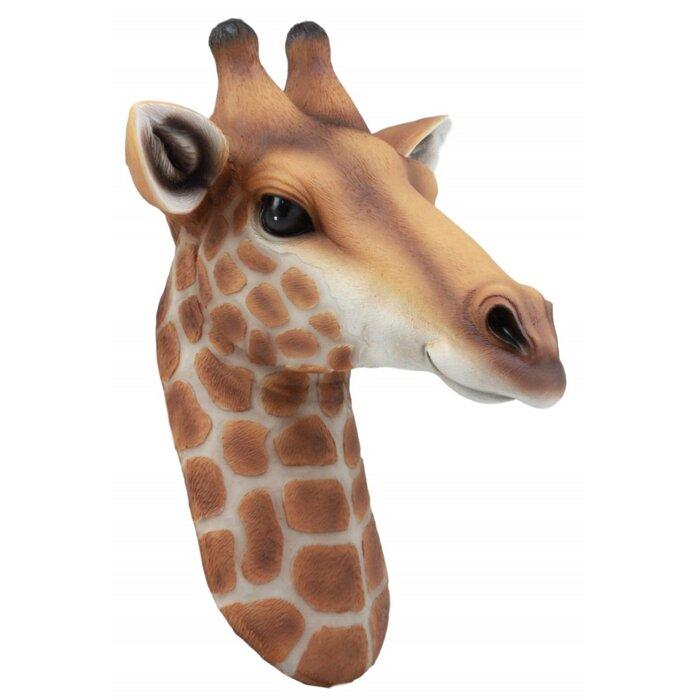 Safari Giraffe Head Wildlife Animal Trophy Taxidermy Wall Decor