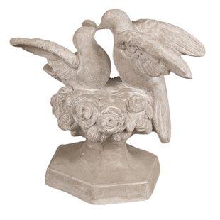 OrlandiStatuary Animals Kissing Doves Statue