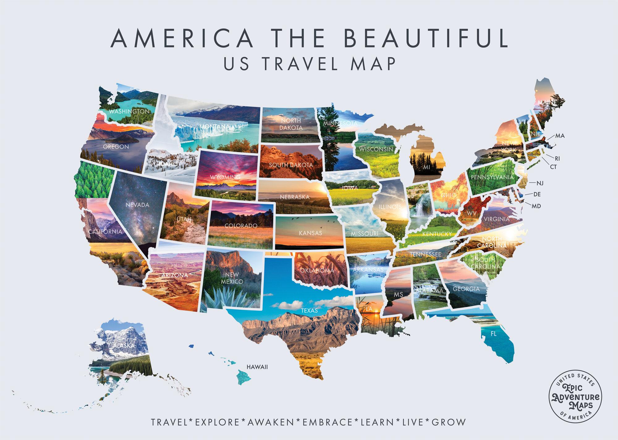 Scratch Off Usa Map Epic Adventure Maps The Beautiful USA Scratch off Travel Map
