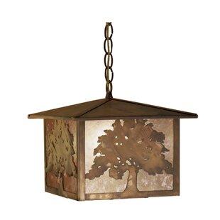 Meyda Tiffany Oak Tree 1-Light Lantern Pendant
