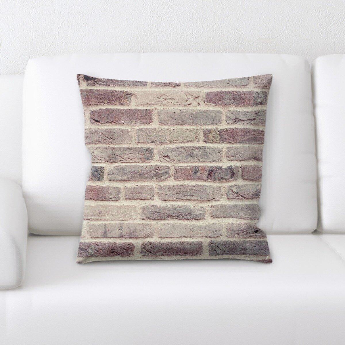 East Urban Home Bricks Throw Pillow Wayfair