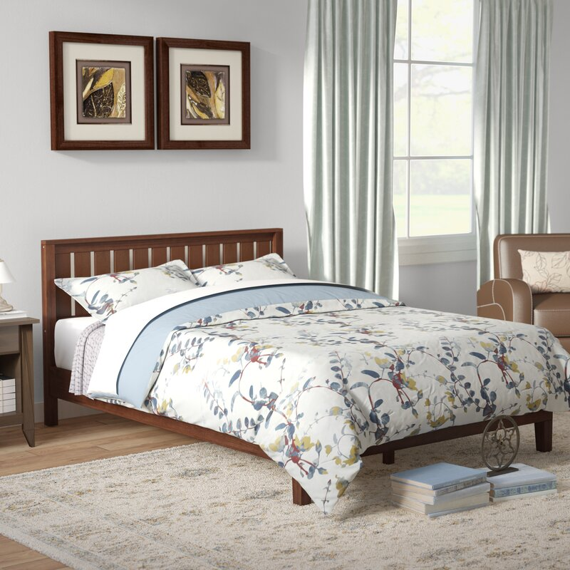 Shaunte Solid Wood Platform Bed