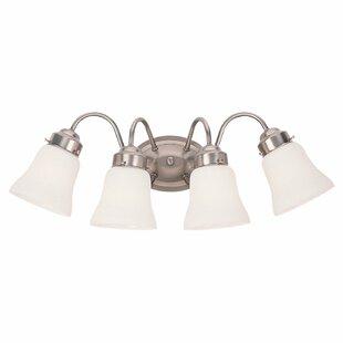 Three Posts Darmstadt 4-Light Glass Shade Vanity Light