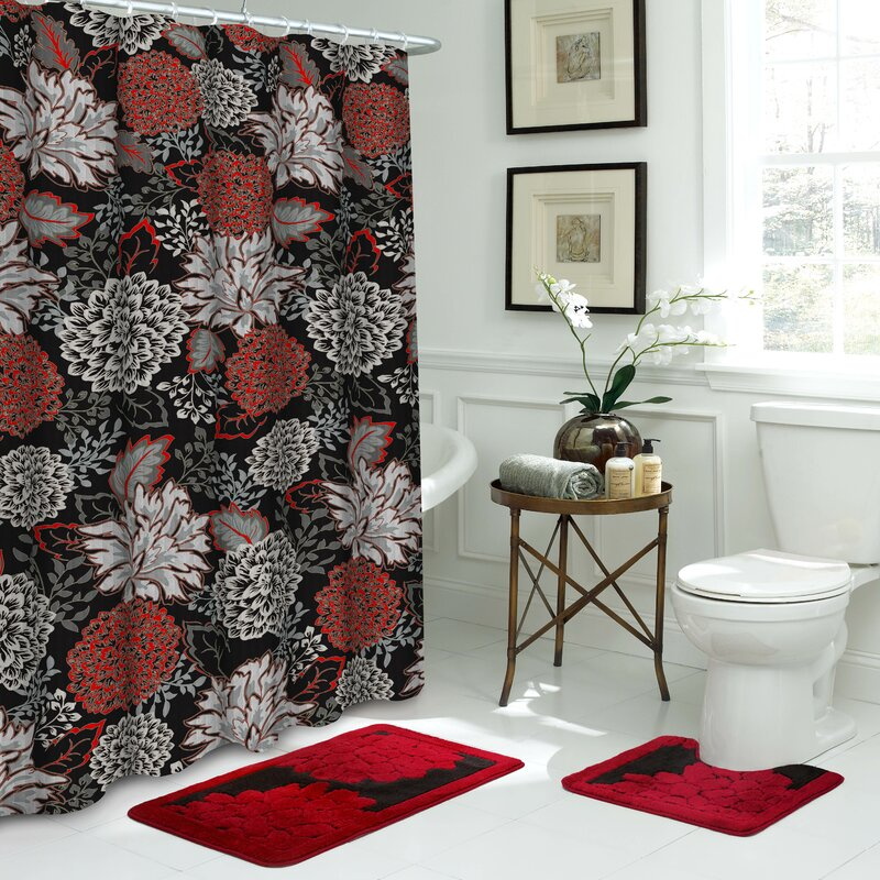 Sonrie 15 Piece Shower Curtain Set