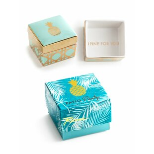 Affordable Price Patio Party Pineapple Jewelry Box By Rosanna