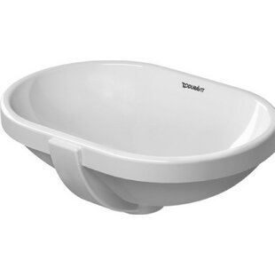Reviews Ceramic Oval Undermount Bathroom Sink with Overflow By Duravit