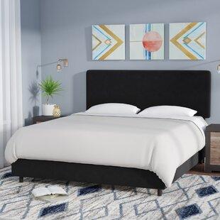 Mercury Row Bugg Velvet Upholstered Panel Bed