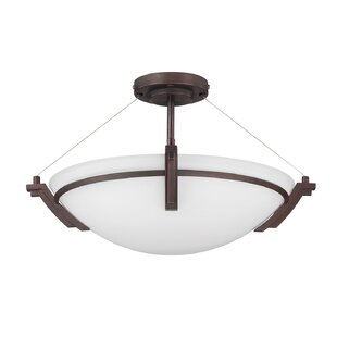 Hogle 3-Light LED Semi Flush Mount by Latitude Run