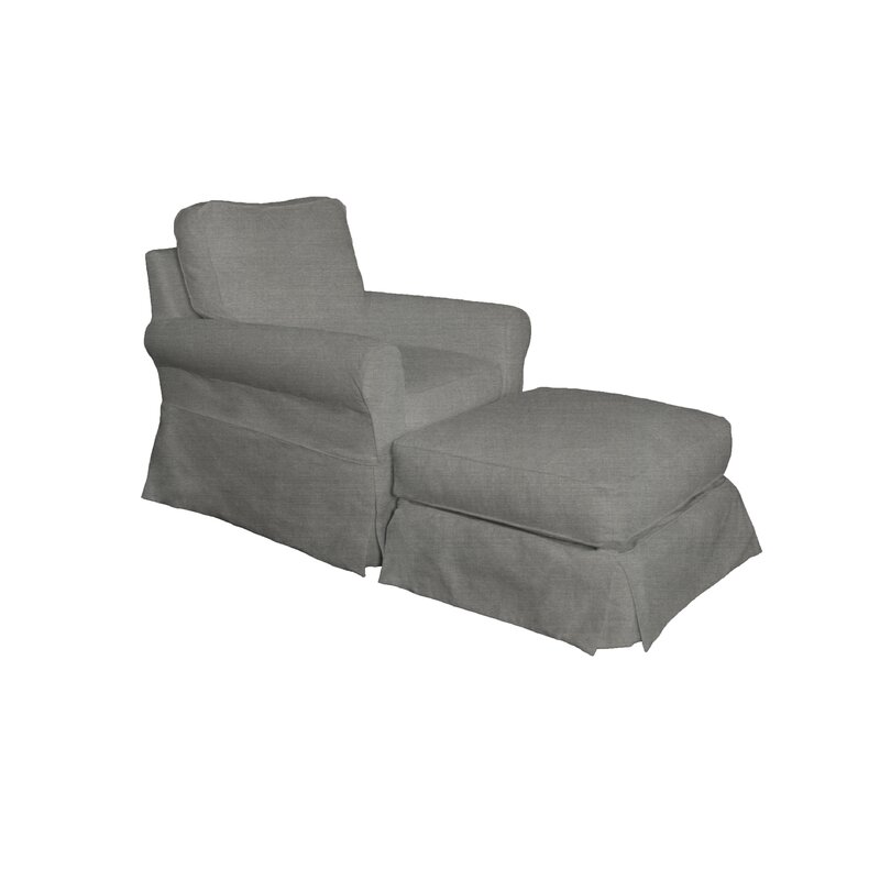 Rundle Armchair And Ottoman Slipcover