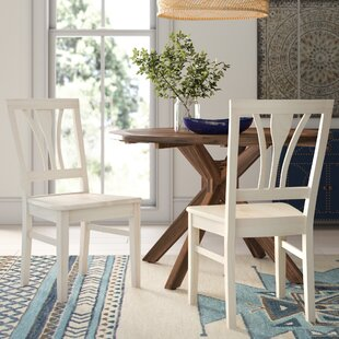 Lynn Fanback Solid Wood Dining Chair (Set of 2) Mistana