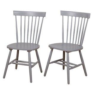 brand new 303f2 0c501 Gray Wash Wood Dining Chairs | Wayfair
