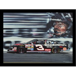 'Dale Earnhardt' Print Poster by Darryl Vlasak Framed Memorabilia by Buy Art For Less