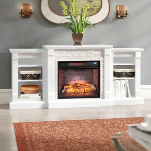 Hazelwood Simulated Stone Infrared Electric Fireplace by Alcott Hill