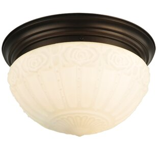 Meyda Tiffany Puffy Rose 3-Light Flush Mount