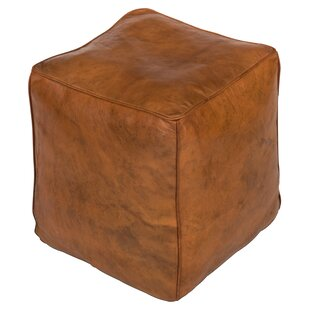 Sunday Afternoon Leather Pouf