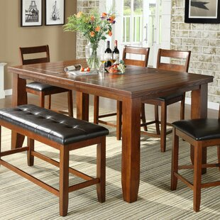 Lecroy Extendable Dining Table Millwood Pines