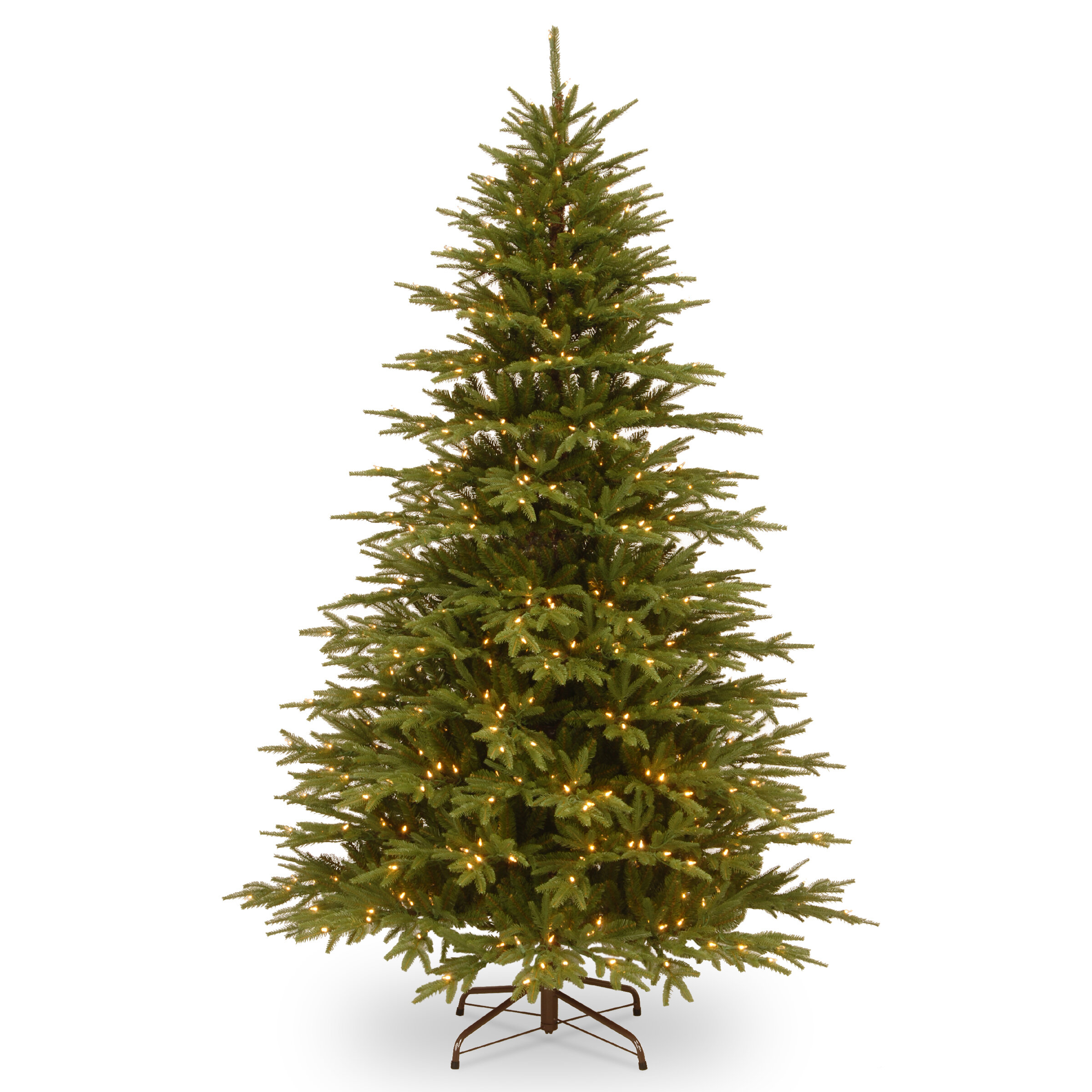 Feel Real Hinged 7 5 Green Fir Artificial Christmas Tree With 800 Clear Lights Reviews Joss Main