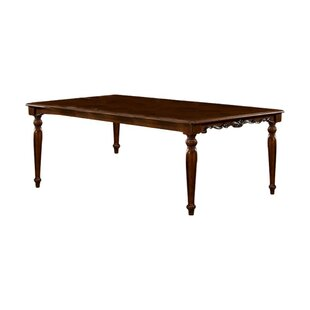 Astoria Grand Sadie Traditional Formal Solid Wood Dining Table