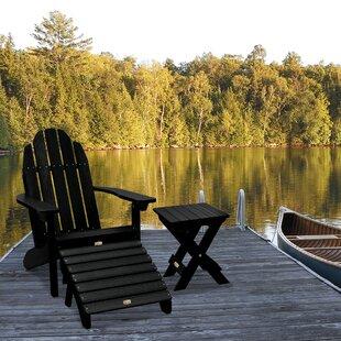 Mabini Plastic/Resin Adirondack Chair with Table