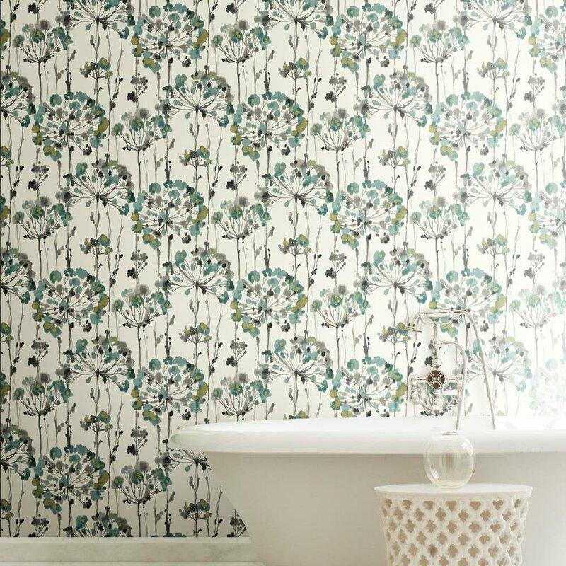 Artisan Flourish Floral 27 L X 27 W Wallpaper Roll