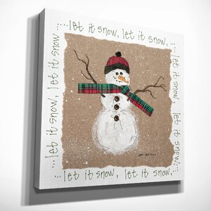'Snowman' Painting Print on Wrapped Canvas