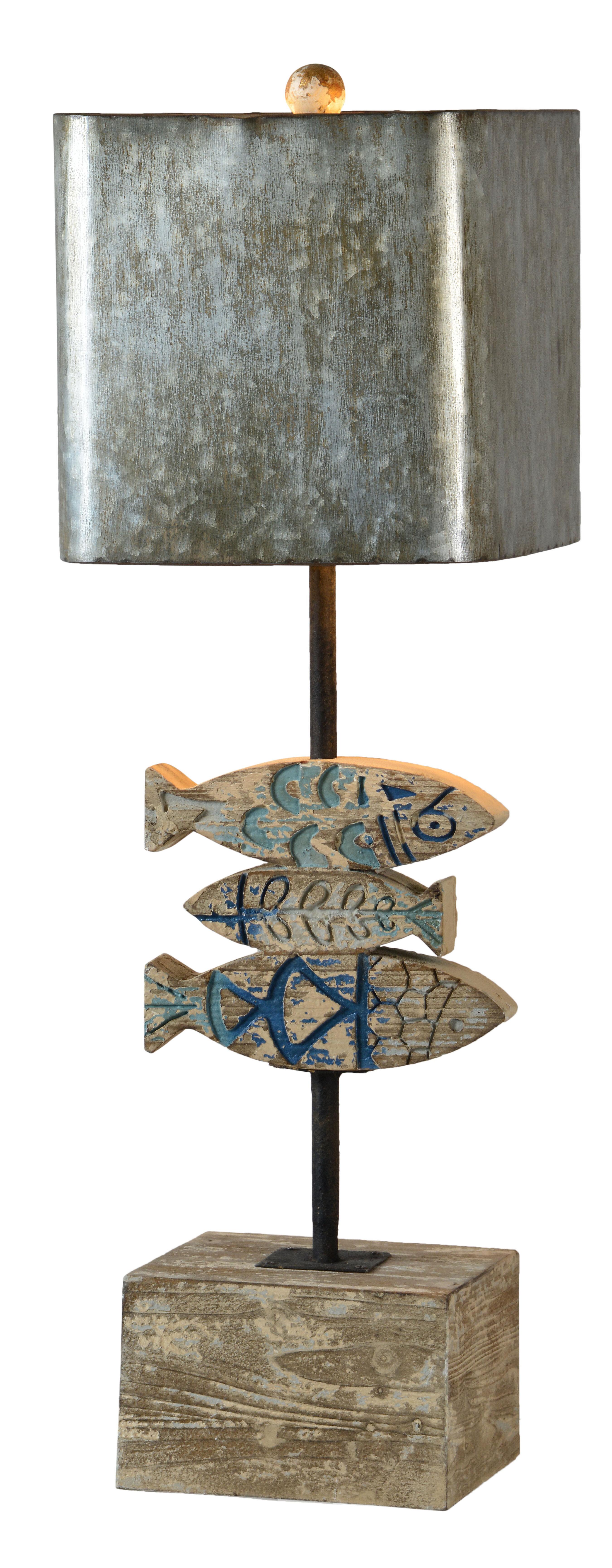 ARTSYLAMP Forest Cute Fox Wood Base Decoration Desk Table Bedside Light Lamp