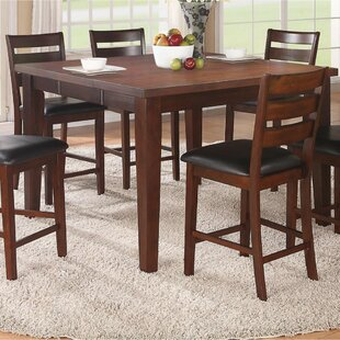 Rubio Solid Wood Pub Table by Charlton Home
