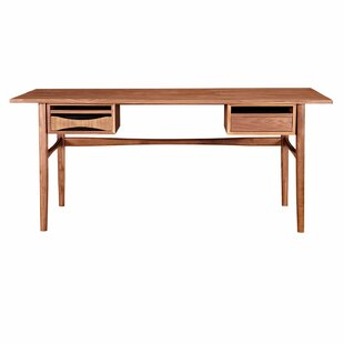 Inexpensive Dreketi Writing Desk with 2 Drawers By Corrigan Studio