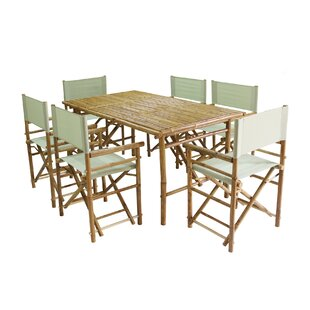 7 Piece Dining Set with Cushions by ZEW Inc