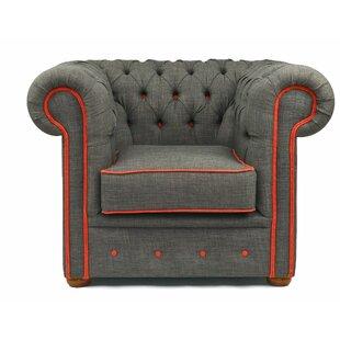 Dwight Handmade Linen Arm Chair By Rosalind Wheeler
