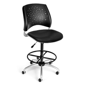 Drafting Chairs You ll Love   Wayfair. Office Star Height Adjustable Drafting Chair With Footring. Home Design Ideas