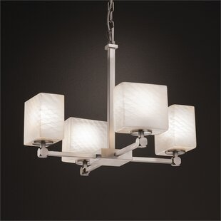 Brayden Studio Luzerne 4-Light Shaded Chandelier
