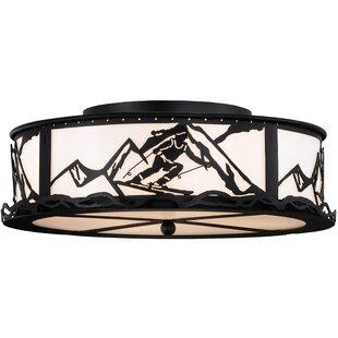 Meyda Tiffany Alpine 4-Light Flush Mount