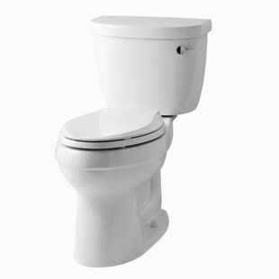 Kohler Cimarron Comfort Height Two-Piece Elongated 1.6 GPF Toilet with Aquapiston Flush Technology, Right-Hand Trip Lever and Tank Cover Locks