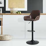 Glidewell Swivel Adjustable Height Stool by 17 Stories