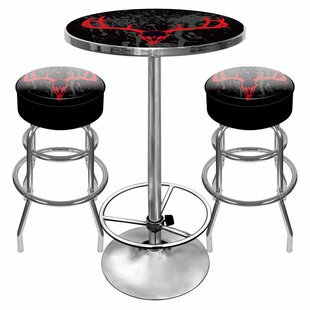 Hunt Skull Game Room 3 Piece Pub Table Set Trademark Global